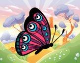 Dibujo Mariposa dirección derecha pintado por starlimon