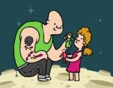 Papá con Tatuajes