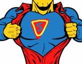 Dibujo Pecho de superhéroe pintado por NICOLASH
