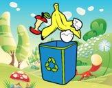 Dibujo Reciclaje orgánico  pintado por fabianny