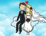 Dibujo Recién casados en una nube pintado por Aura05