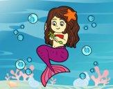 Sirena peinándose