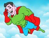 Superhéroe volando
