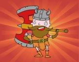 Vikingo con gran hacha