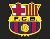 Dibujo Escudo del F.C. Barcelona pintado por Giovaa