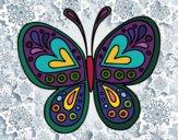 Dibujo Mandala mariposa pintado por leolino