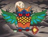 Dibujo Tatuaje de búho con llave pintado por leolino