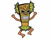 Dibujo Dios maya pintado por HIJIHIJi