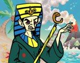 Dibujo Faraón enfadado pintado por noramision