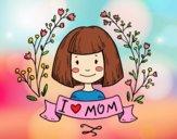 Dibujo I love mom pintado por DiamondB