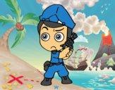 Dibujo Jefe de policía pintado por kevin23
