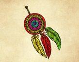 Dibujo Atrapasueños indio pintado por queyla