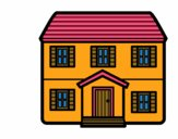 Dibujo Casa con dos pisos pintado por snooker026
