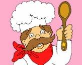 Chef con bigote
