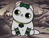 Dibujo Gatito emo pintado por ALETTE
