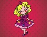 Dibujo Joven princesa pintado por amby