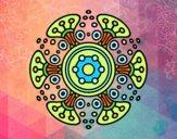 Dibujo Mandala mundo lejano pintado por meibol