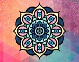 Dibujo Mandala ojos abiertos pintado por meibol