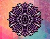 Dibujo Mandala para la concentración pintado por meibol