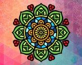 Dibujo Mandala para la concentración mental pintado por meibol