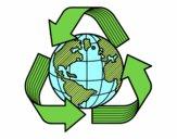 Dibujo Mundo Reciclaje pintado por majo5737