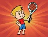 Niño con raqueta