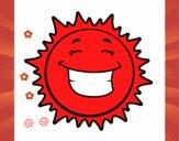 Sol sonriendo