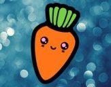 Dibujo Zanahoria sonriente pintado por dominium
