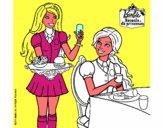 Barbie en la hamburguesería