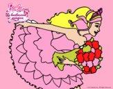 Barbie en un saludo de agradecimiento
