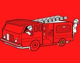 Bomberos en el camión