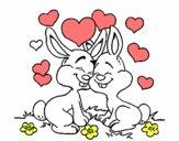 Conejitos enamorados