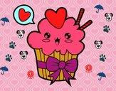 Cupcake kawaii con lazo