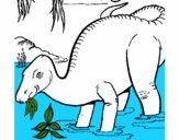 Dinosaurio comiendo