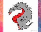 Dibujo Dragón barrigón pintado por AARONDAVID