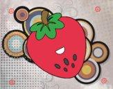 Dibujo Fresa feliz pintado por valemartha