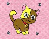 Dibujo Gato doméstico pintado por CeciMLP