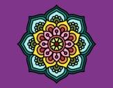 Dibujo Mandala flor de la concentración pintado por masafico4