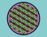 Dibujo Mandala flor de vida pintado por masafico4