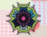 Mandala flor simétrica