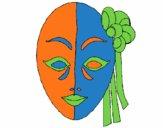 Dibujo Máscara italiana pintado por Camii_11