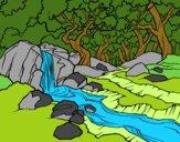 Dibujo Paisaje de bosque con un río pintado por BellaDulce
