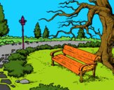 Dibujo Paisaje de parque pintado por BellaDulce