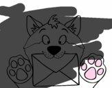 Perro con carta
