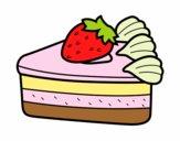 Dibujo Tarta de fresas pintado por melissagj