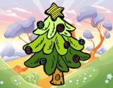 Dibujo Un árbol Navidad pintado por Lucia626