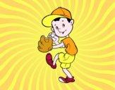 Un lanzador de béisbol