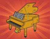 Dibujo Un piano de cola abierto pintado por vicky09
