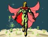 Un Super héroe volando