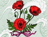 Dibujo Unas amapolas pintado por cecil13